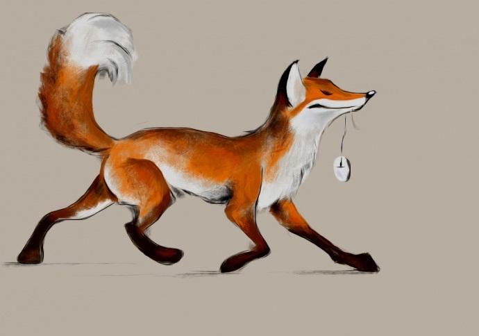 Рисунки лисиц